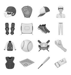 Ball helmet bat uniform and other baseball vector