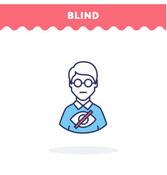 blind symbol icon flat design advantage vector image