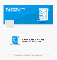 blue business logo template for wire framing web vector image