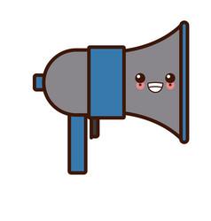 Bullhorn advertising symbol kawaii cute cartoon vector