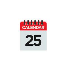 calendar graphic design template abstract vector image