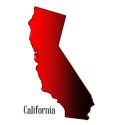California halftone map vector