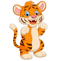 Cartoon cute tiger vector