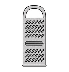 Cheese grater isolated icon vector