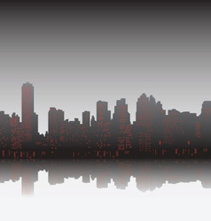 City on sunset vector