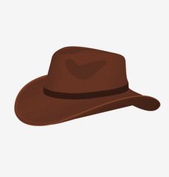 cowboy hat icon isolated object side view vector image