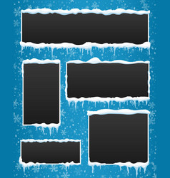 creative of icicle winter vector image
