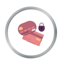 Credit Card Security icon in cartoon style vector image