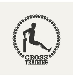 Cross Training man silhouet 2 logo vector
