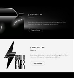 electric car banner template vector image