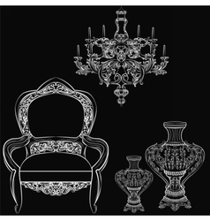 Exquisite Fabulous Imperial Baroque furniture vector image