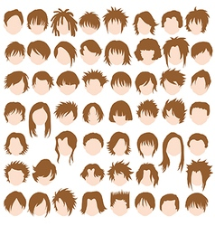 Female hair styles vector