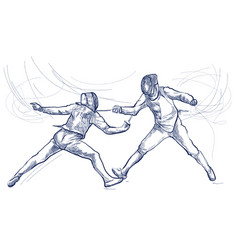 fencing - an hand drawn freehand vector image