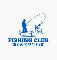 Fishing logo badge 6 vector