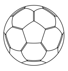 Football ball icon outline style vector