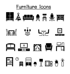 furniture icon set graphic design vector image