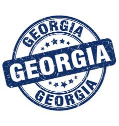Georgia blue grunge round vintage rubber stamp vector
