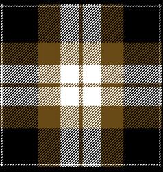 gold and black tartan plaid seamless pattern vector image