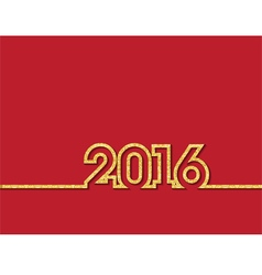 gold glitter new year 2016 vector image
