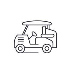 Golf car line icon concept golf car linear vector