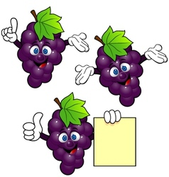 grape cartoon vector image