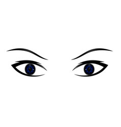 hand-drawn woman s sexy luxurious eye with vector image