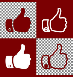 hand sign bordo and white vector image