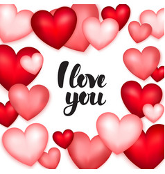 hearts i love you vector image
