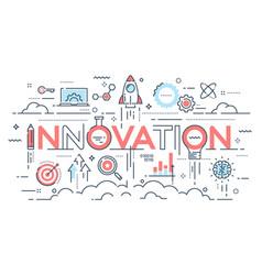 Innovation new ideas creativity and technology vector