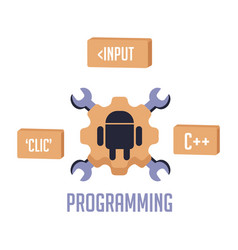 Isolated android programming vector