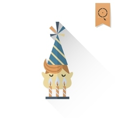Little Boy Blowing Out Candles vector image