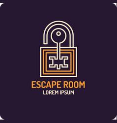 Lock and key real-life room vector