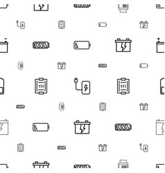 Low icons pattern seamless white background vector