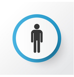 Male icon symbol premium quality isolated vector