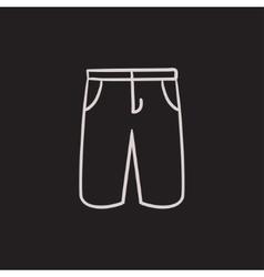 Male shorts sketch icon vector