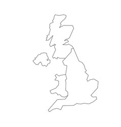 map of united kingdom countries - england wales vector image