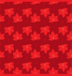 maple leaves seamless bright red art vector image