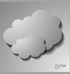 Messages in form clouds vector