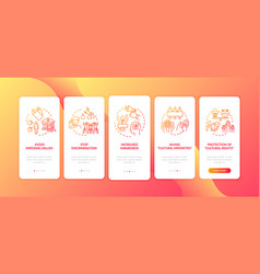 multi national right support onboarding mobile vector image