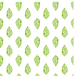 Nature plants seamless pattern vector