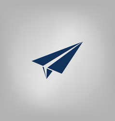 Paper airplane icon vector