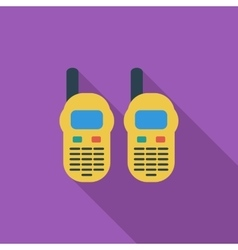 Portable radio vector image