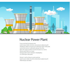 poster nuclear power plant vector image