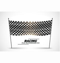 Racing flag banner for start or finish race vector