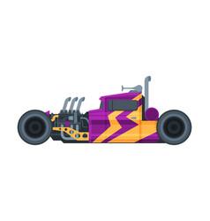 retro style purple race car old sports hot rod vector image