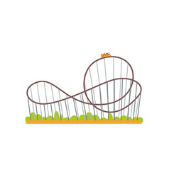 Rollercoaster track with train extreme ride vector
