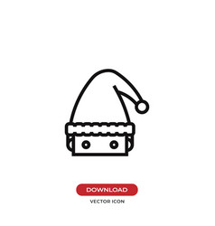 santa claus head icon vector image
