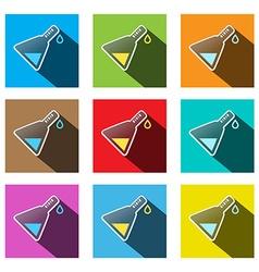 Science Symbols - Colorful Test Tubes Set vector image
