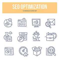 SEO Doodle Icons vector image