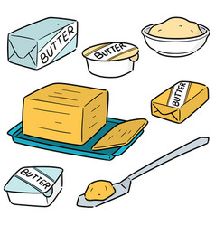 Set butter vector